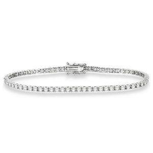 Round Cut Small 5 Carats Diamonds Bracelet New Whi